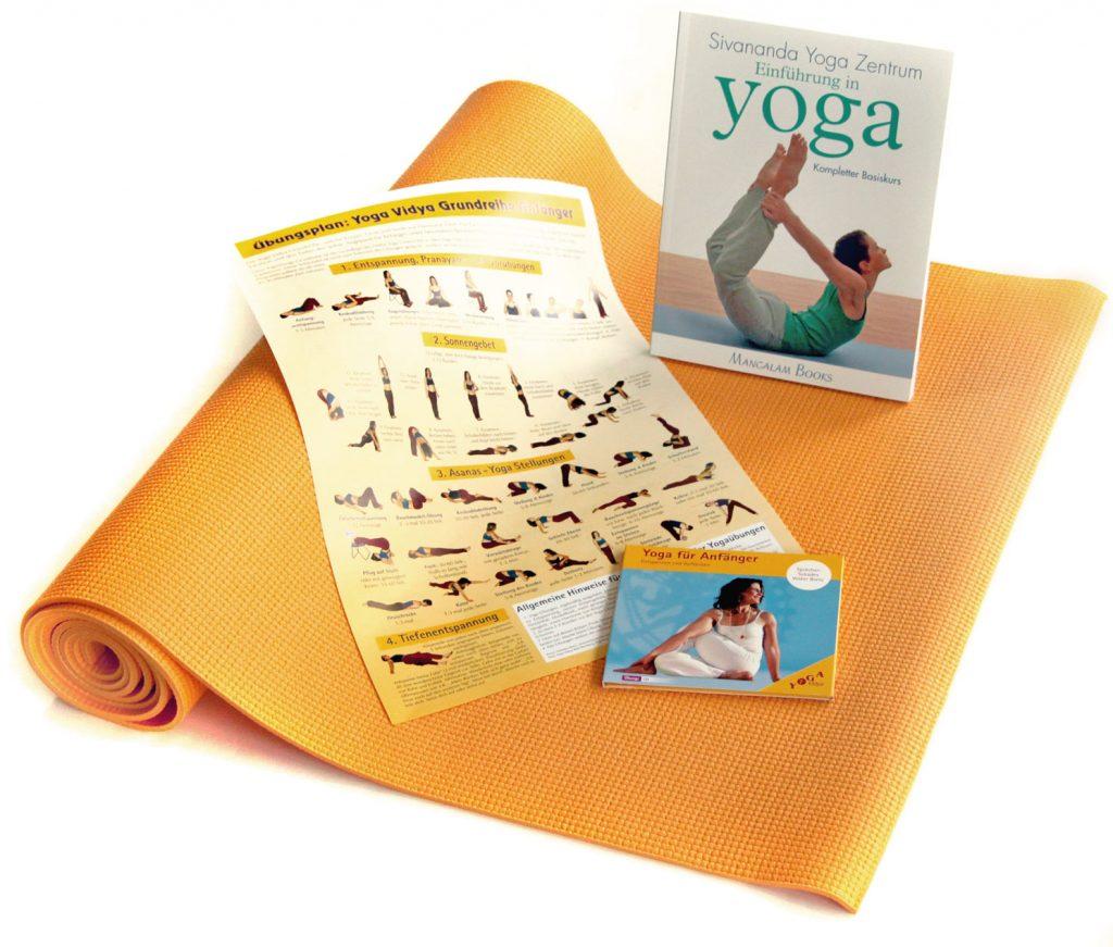jubil ums angebot yoga vidya kompakt dein yoga set. Black Bedroom Furniture Sets. Home Design Ideas