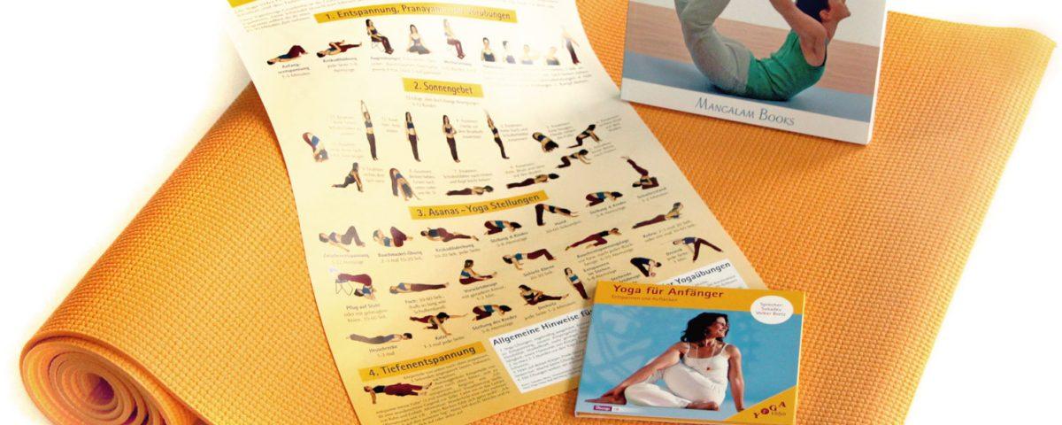 Jubiläums Angebot Set Yoga Vidya CD Buch Yogamatte
